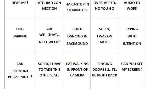 Virtual Call Bingo